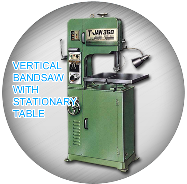 Vertical Bandsaw With Stationary Table