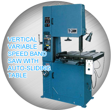 Vertical Bandsaw With Auto-Sliding Table